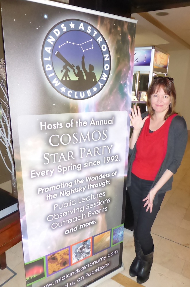Presenting at the Cosmos meeting in Ireland.  © 2015, Kate Russo