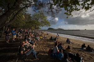 Waiting for totality in Palm Cove. 2012.
