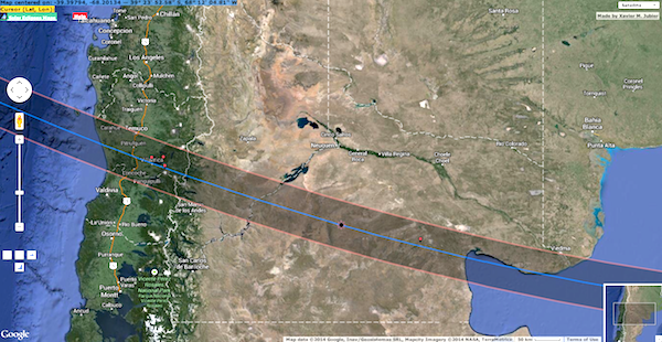 14 December 2020 Total Solar Eclipse Being In The Shadow