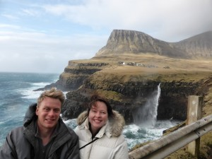 Dr Geoff Sims and Dr Kate Russo in the Faroe Islands, March 2013