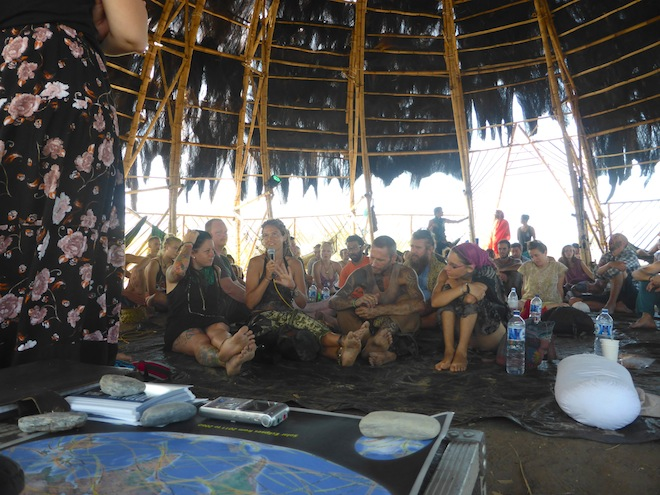 Researching the eclipse experience at the Sulawesi Eclipse Festival the day after the total solar eclipse. (c) 2016, Kate Russo