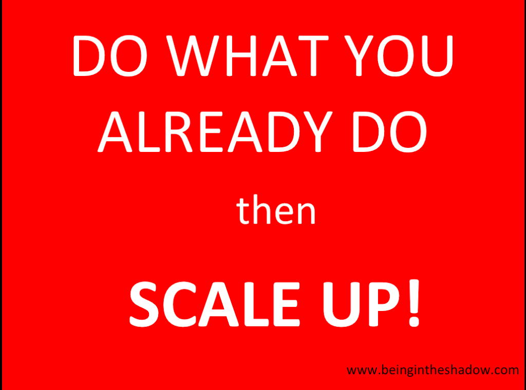 Eclipse planning approach - do what you already do, then scale up