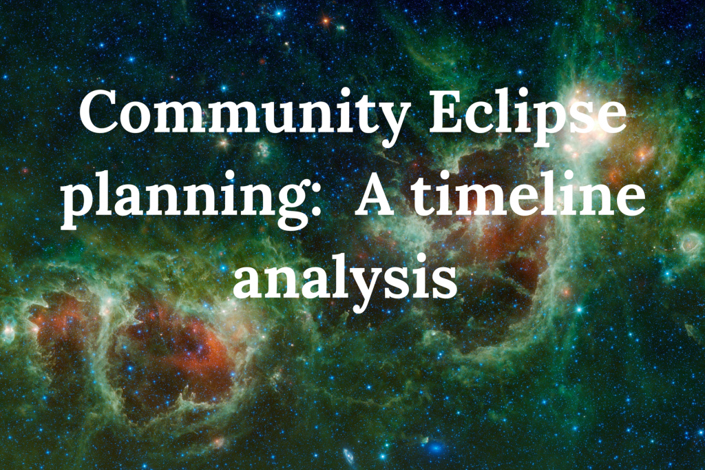 eclipse research, planning, timeline, Dr Kate Russo